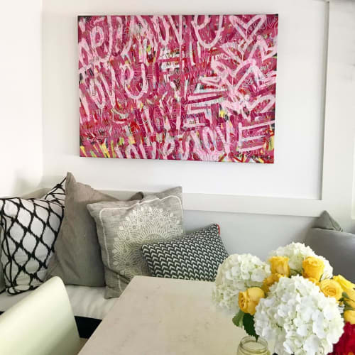 Paintings by Chris Riggs seen at Private Residence, San Rafael - Love Painting