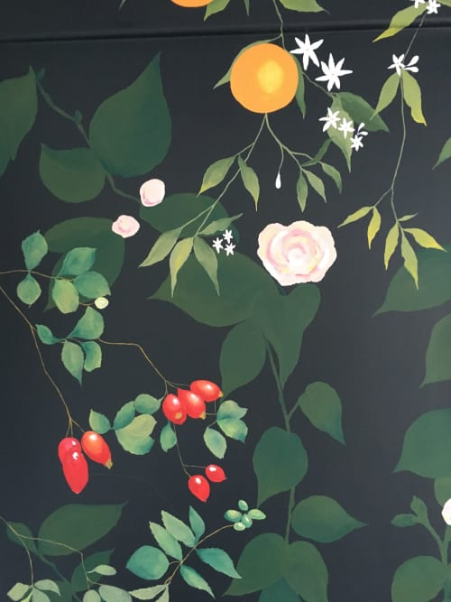 Murals by Living Wall Murals seen at Pai Skincare, London - Pai Mural
