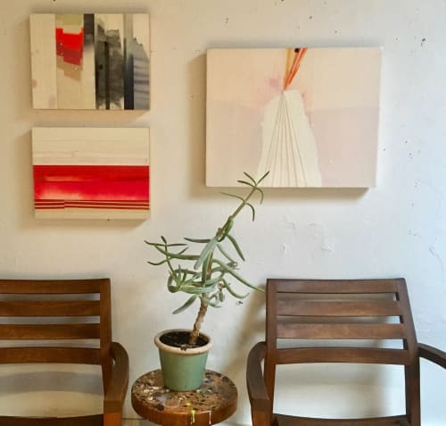 Paintings by Cynthia Ona Innis at Private Residence, Berkeley, CA, Berkeley - Little Pinnacles, small painting grouping