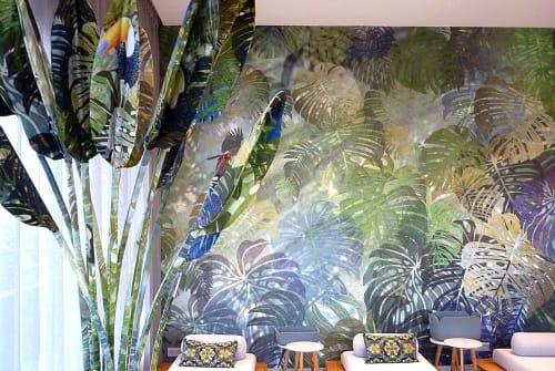Art & Wall Decor by Driessens & van den Baar WANDSCHAPPEN seen at Van der Valk Hotel Enschede, Enschede - Luxury Hotel: Felt Plants & Fabric Plants for