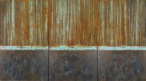 Paintings by Paul Seftel seen at Monterey, Monterey - Controlled Burn mixed media painting on canvas.