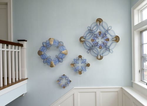 "Sculptures by Anastasia Azure seen at Private Residence, Westerly - ""Coastal Constellation"" contemporary sculpture installation"