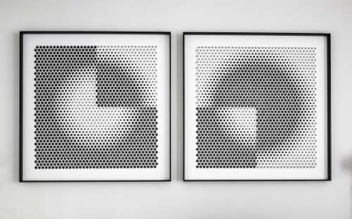 Wall Hangings by Yossi Ban Abu seen at Private Residence, San Mateo - Trimestre - Paper Design