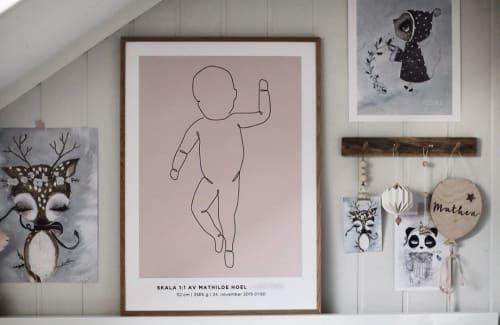 Art & Wall Decor by Fødselsplakat.no seen at Christine Hoel's Home, Lillestrøm - One Line #2