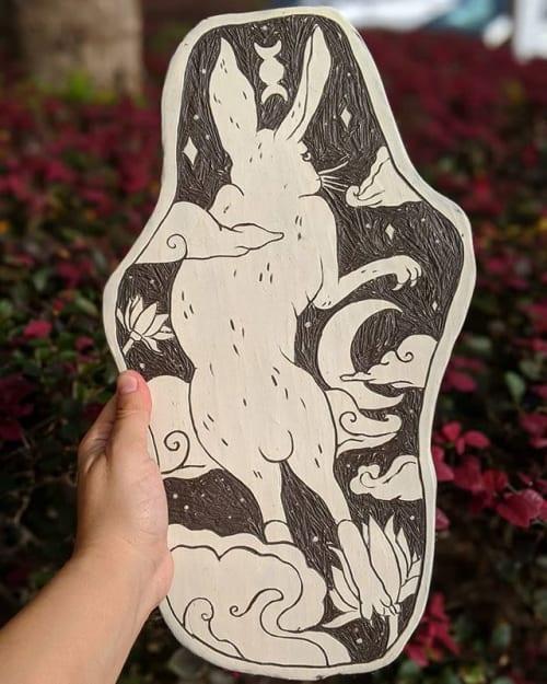 Art & Wall Decor by Anayansi Artworks seen at CityArts, Orlando - White Rabbit (Part 1)