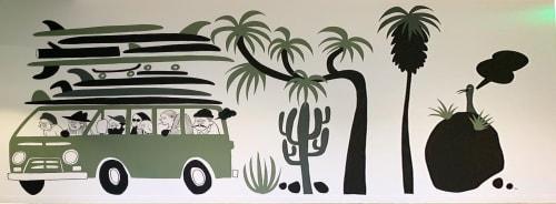 Murals by Yusuke Hanai seen at VANS HQ Costa Mesa, Costa Mesa - Indoor Mural
