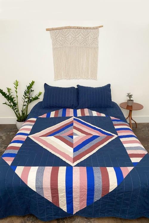 Seaside Quilt - Linen, Hemp, Organic Cotton   Linens & Bedding by Studio Prismatic