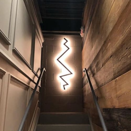 Sconces by hollis + morris seen at Da Legna, New Haven - Bolt Sconce