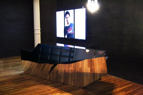 Furniture by Pryor Callaway Art and Design seen at Artist Studio, New York - Sony Music Reception Desk