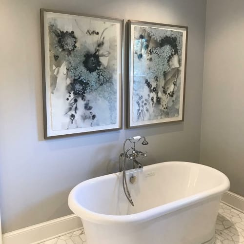 Paintings by Mel Rea at Private Residence, Charlotte - Private Install Charlotte, NC