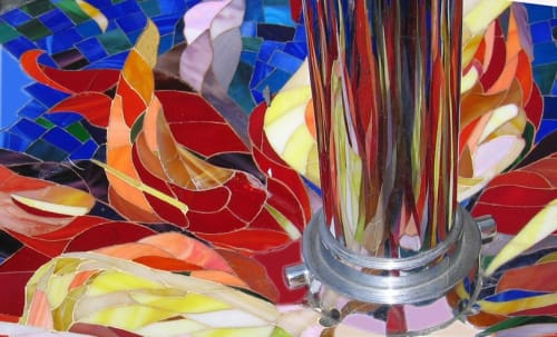 "Public Sculptures by Nina Karavasiles seen at 25th Street & Broadway, San Diego - ""Signifire"""