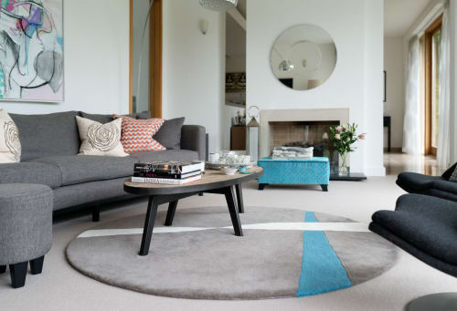 Furniture by Studio 12 Designs Ltd seen at Private Residence, Ascot - Bespoke sofa and rug