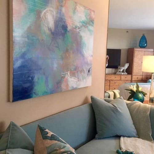 Paintings by Patricia Schwimmer seen at Private Residence, Palm Beach - Mint Julep