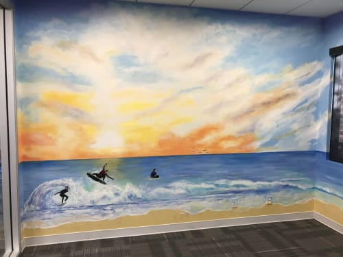 Murals by Anne Giancola seen at Fracta, Redwood City - Sunset mural