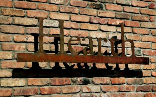 Hardware by Michael Daniel Metal Design seen at Hearth, New York - Custom Metal Work
