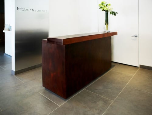Furniture by Michael Daniel Metal Design seen at Tribeca Summit, New York - Tribeca Reception Desk
