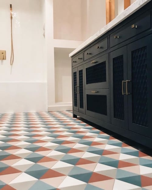 Tiles by Zia Tile seen at Private Residence, Los Angeles - Umbra Tile