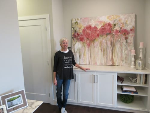 Paintings by Marie Manon Art seen at 8530 8A Ave SW, Calgary - Red Roses