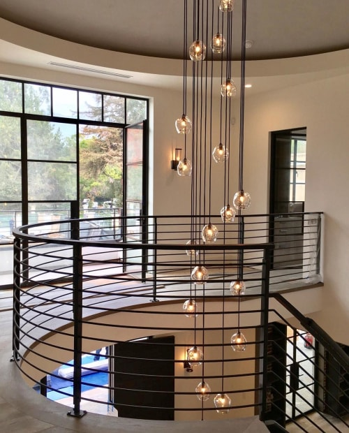 Chandeliers by John Pomp seen at Private Residence, Los Angeles - Infinity Cluster