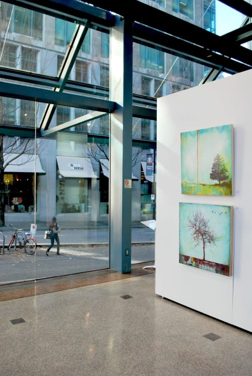 Paintings by Lori Bagnérès Mixed Media Artist seen at HSBC Canada Building, Vancouver - Urban Edge Show 2017