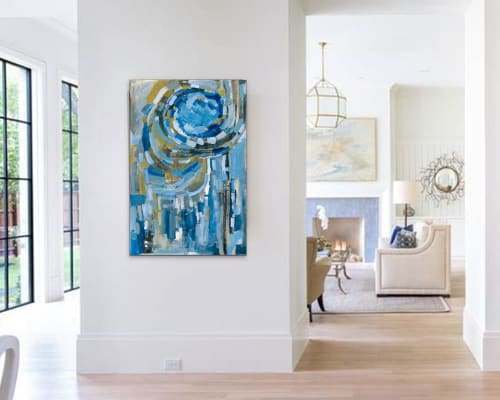 Paintings by Leah Nadeau seen at Private Residence - Ann Arbor, MI, Ann Arbor - Blue Ribbon Acrylic Painting