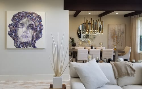 Art Curation by Artspace Warehouse seen at Private Residence, Los Angeles - Virginie Schroeder Artwork Marilyn