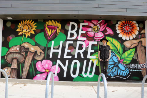 Murals by Jason Eatherly seen at East Austin Hotel, Austin - Be Here Now