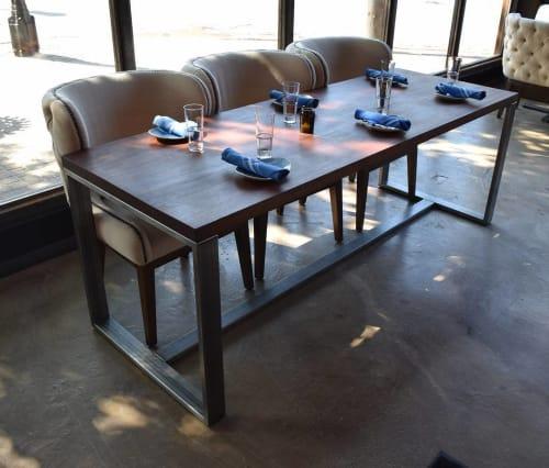 Tables by SouthLoft seen at STIRR, Dallas - Custom 7ft Mahogany Table