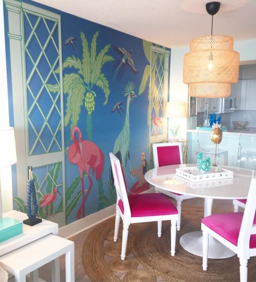 Murals by Cotton & Quill at Private Residence, Myrtle Beach - Atrium Mural