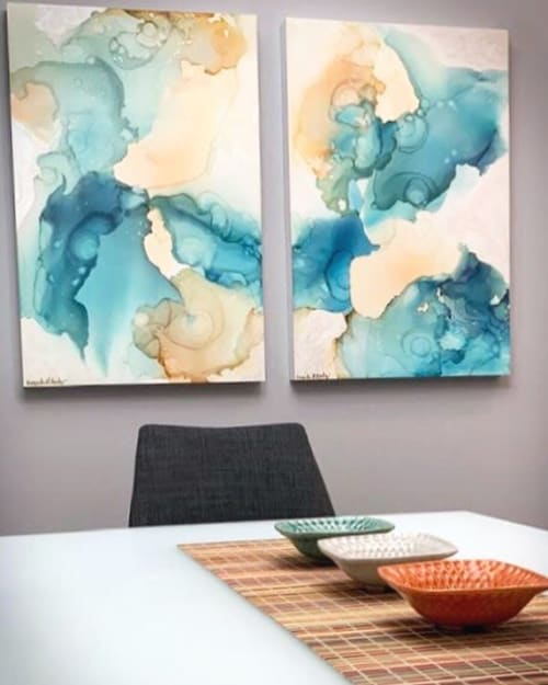 Paintings by Amanda M Moody seen at Private Residence, Lincoln - capricorn