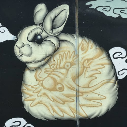 Street Murals by Golden Rabbit Silent Monkey seen at Metropolitan Branch Trail, Washington - PowWowDC Mural, 2018