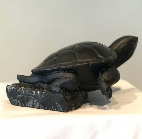 Sculptures by Barber - Carving & Sculpture Inc. seen at Private Residence, Ottawa - Slow Leap of Faith, (this is me)