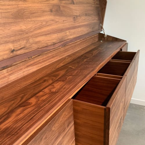 Furniture by In Element Designs seen at Private Residence, Vancouver - DJ booth Cabinet