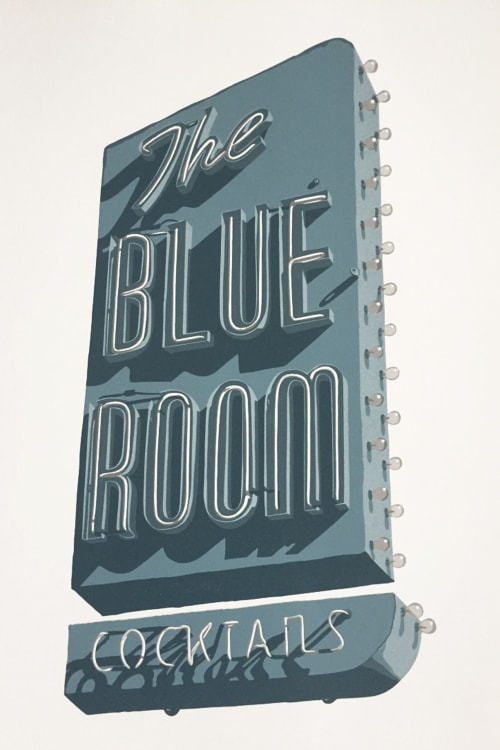 "Art & Wall Decor by Dave Lefner seen at The Brewery Artist Lofts, Los Angeles - ""The Blue Room"""