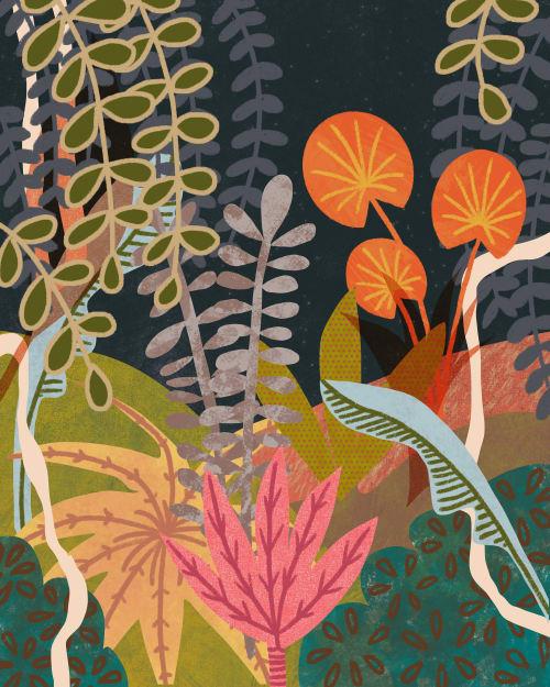 Paintings by Birdsong Prints - Scandinavian Modern, 60s Art Print
