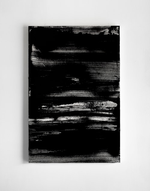 Paintings by Carson Cartier seen at Private Residence, Vancouver - Monochromatic painting