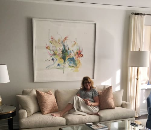 Paintings by Irina Alimanestianu - painter seen at Private Residence, New York - What is Felt is Real