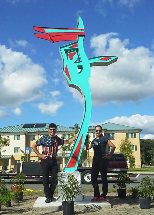 Public Sculptures by Gus Lina Fine Art seen at 3501 Dale St, Fort Myers - Grand Jete