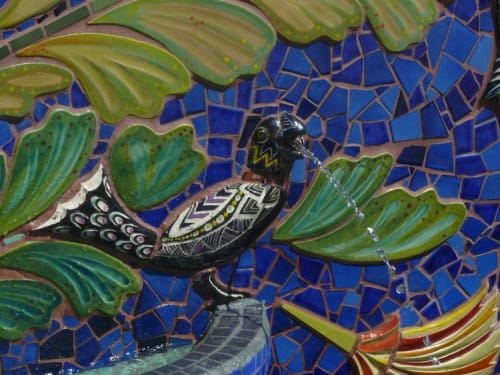 Tiles by Aileen Barr seen at Jardin de Ninos Park, Redwood City - Jardin de Niños