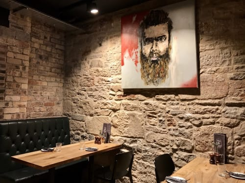 Paintings by Emily Sarah Art seen at Harry's Bar, Edinburgh - Urban Humanity
