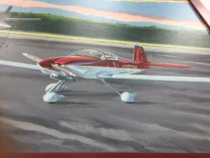 Murals by David Hurley and Peter Walls seen at Belfast International Airport, Belfast - Belfast Airport Mural
