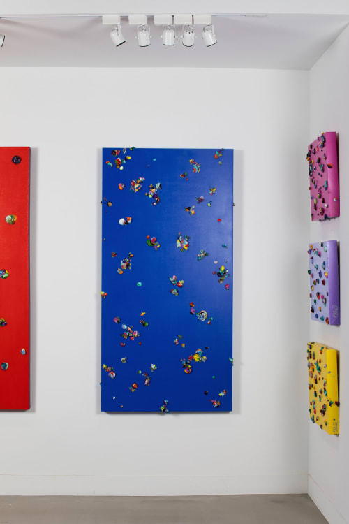 """Paintings by Melissa Ellis Art seen at ALG Collective, Dallas - """"Everlasting Gobstopper"""""""