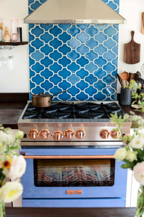 Appliances by BlueStar Cooking seen at Fare Isle's (Kaity's) Kitchen, Nantucket - Bluestar's 36″ RNB Series Range