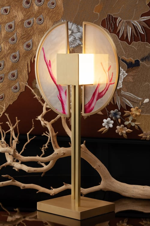 Lamps by Ori Bespoke seen at Private Residence, London - Coral Royale