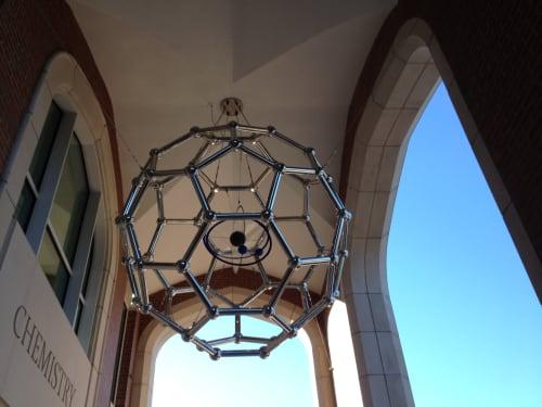 Public Sculptures by Stallard Sculptures seen at University of Florida, Gainesville - Fullerene