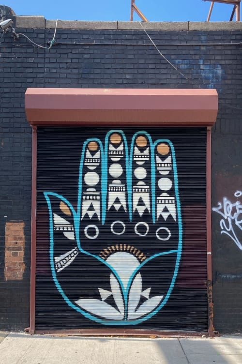 Murals by Sam Spetner seen at Philadelphia, Philadelphia - Hamsah 2020