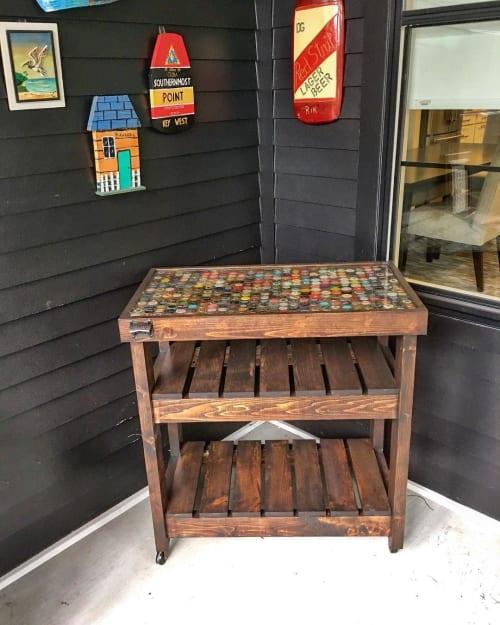 Furniture by Walker & Wood seen at Private Residence, Nashville - Bottle Top Bar Cart