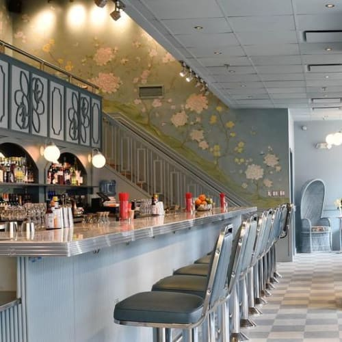 Murals by Nicolette Atelier seen at Morris American Bar, Washington - Chinoiserie Mural