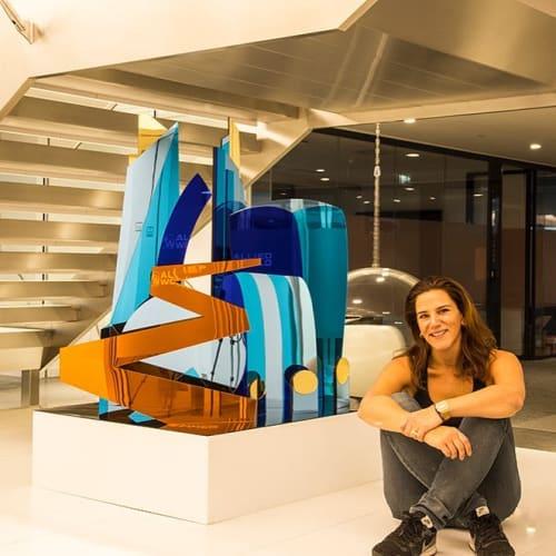 Sculptures by Joanna Gilbert seen at 20 Fenchurch St, London - Art Installation