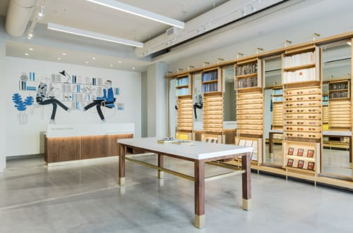 Murals by Anna Wray seen at Warby Parker Pittsburgh, Pittsburgh - Interior Mural